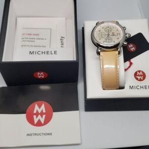 Authentic Michele Ladies Pink Watch w/Box